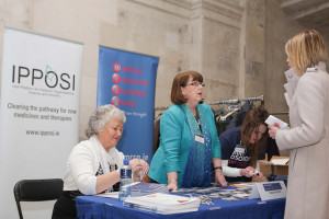 NIRDP members Doris and Helen working the registration desk