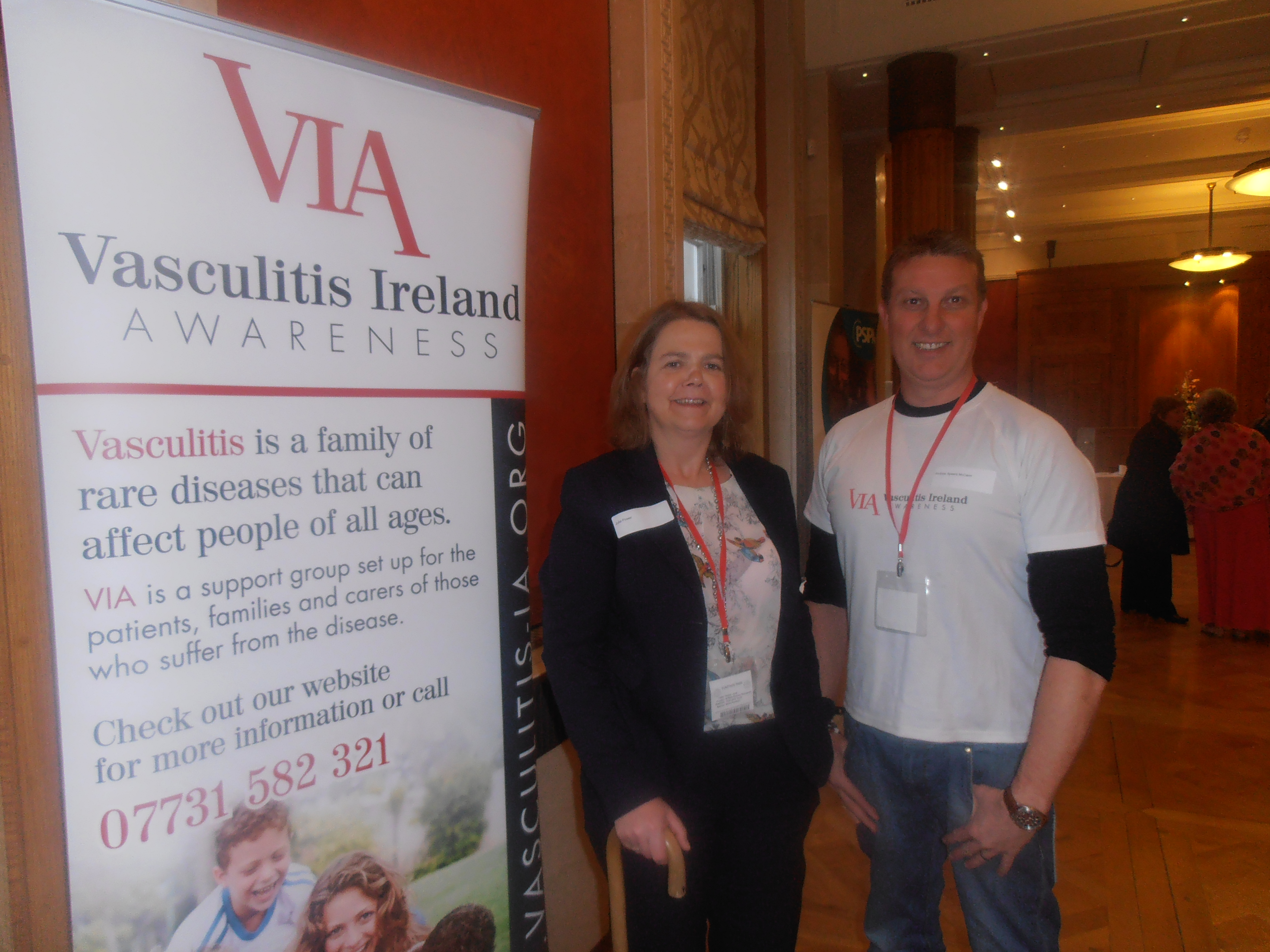 Andrew and Caroline from Vasculitis ireland