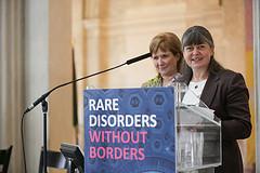 NIRDP members Rosemary and Katie, telling it like it is