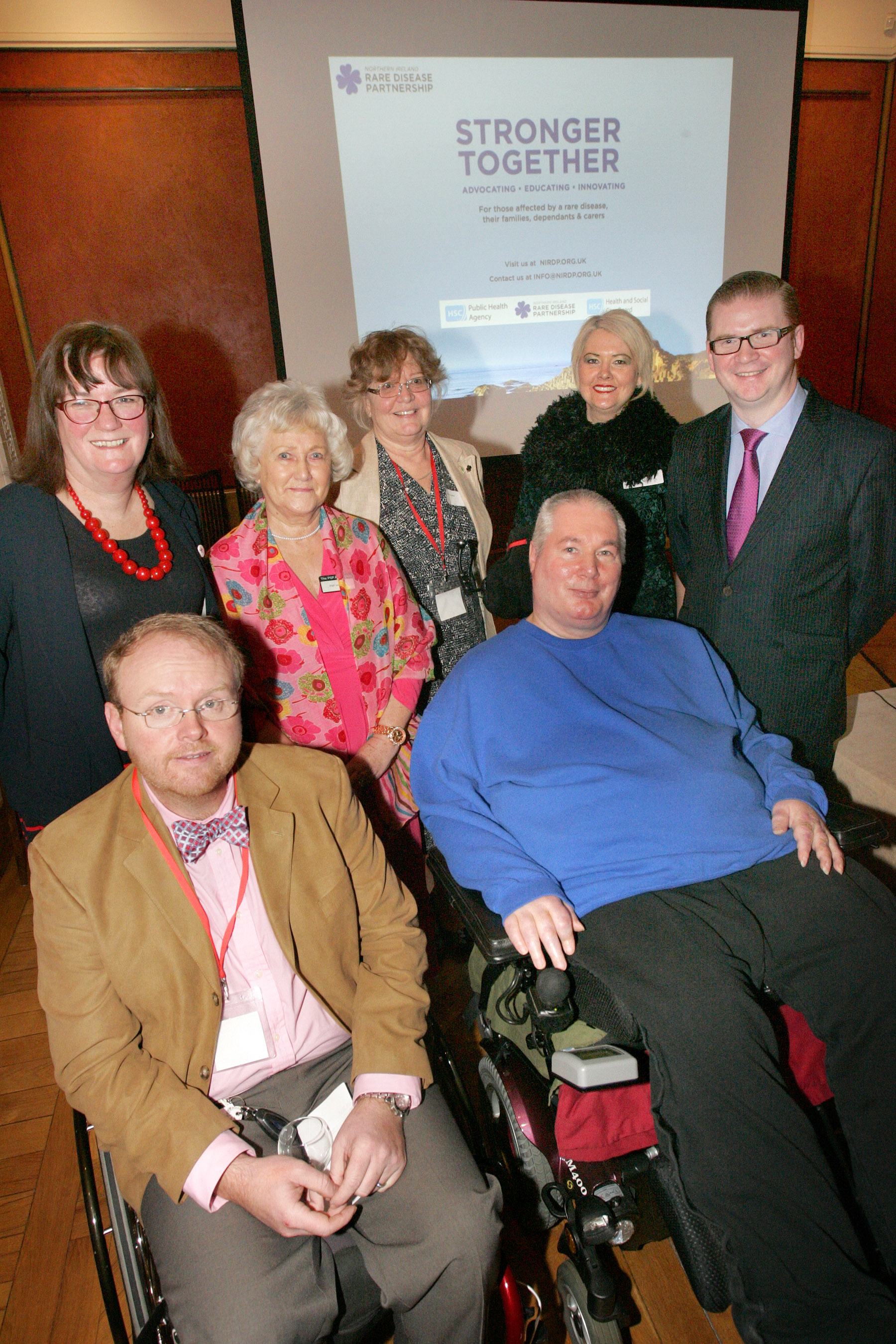 people living with rare disease, clinicians, policy makers and politicians gathered together